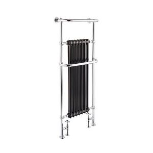 St James Heated Towel Rail with Cast Iron Fins - SJ950002-BK